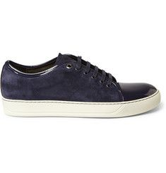 LanvinSuede and Patent-Leather Sneakers
