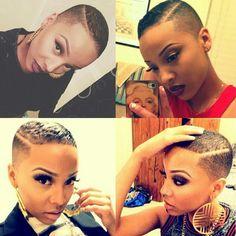 TWA. Big Chop. Fresh Cut. Bald Headed Woman. Team Natural. Dopeness  IG: humbleeash