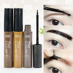 De moda de Corea Marca de Belleza Maquillaje Tinte de Cejas Enhancer Mi Frente Gel Impermeable Negro Marrón Despegue Henna Gel de Cejas Maquillaje Kit