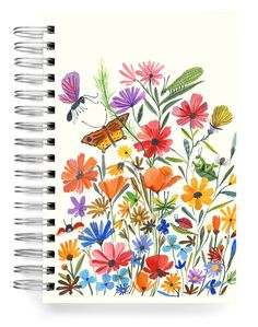 Bug Garden PERSONALIZED Jumbo Journal Save Yourself, Create Yourself, My Attitude, Word Out, Stationery Design, Paper Design, Your Design, Bugs, Poppies