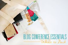Heading off to a blogging conference? These are the 6 blog conference essentials you don't want to miss packing!