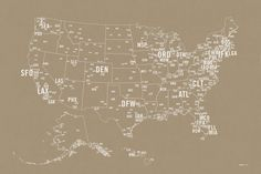 Pin By Lillianpierson Com On World Pinterest Buckets - Us airport codes map
