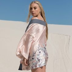 Kimono blush satin outerwear - one size fits all. UNIQUE GARMENT: fabric used once only Save The Planet, Selling Online, One Size Fits All, Second Hand Clothes, Kimono, Cover Up, Sari, Platform, Unique