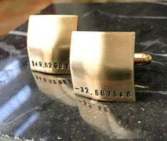 For Him  Custom Hand Stamped Cufflinks  Personalized Cuff