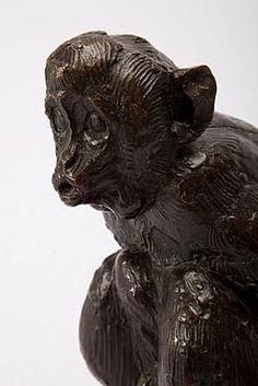 Albéric COLLIN  (Anvers 1886 - 1962)   Singe  Bronze signé  Cachet de Valsuani  Circa 1925
