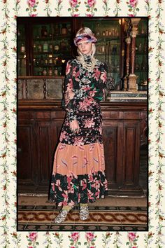 Gucci pre-fall 2017 tiered skirt, mixed prints