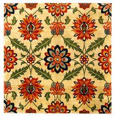 Fragment of a velvet carpet, silk India, Mughal; 17th century 103 × 99 cm http://www.davidmus.dk/en/collections/islamic/materials/textiles/art/10-1989