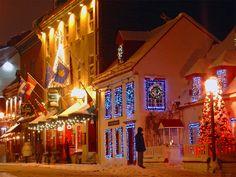 Québec City Winter Scene