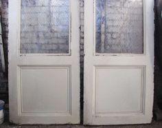 Industrial metal doors with chicken wire glassPurchase