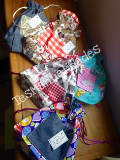 Fabric bags. Fabric pouches. Bolsas de tela by TesManualidades México