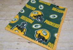 Wisconsin Green Bay Packers Crochet Fleece Blanket for Baby