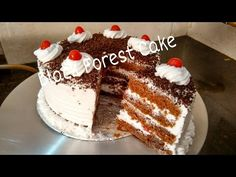 Eggless Chocolate Cake with Ganache | Kitchen Time with Neha - YouTube