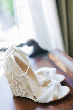 Gorgeous Bridal Shoes For Stunning Brides ❤ See more: http://www.weddingforward.com/gorgeous-bridal-shoes/ #weddings