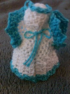 Crocheted angel ornament