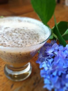 """Chia Seeds. Why and How?  Cantaloupe, Chia, & Coconut Water """"Cocktail"""" Gluten Free Baking, Gluten Free Recipes, Coconut Water Cocktail, Coconut Water Recipes, Chia Seeds, Free Food, Diy Gifts, Cantaloupe, Smoothies"""
