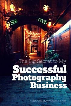 Spilling the beans and sharing the big secret to her successful photography business