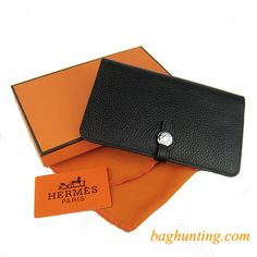 Color: Black  Material: Calfskin Leather  Size: W20×H12.5×D2CM  Package: Hermes box and dust pouch  Shipping: Free  Price: $99 Our classic Hermes dogon replica bi-fold long wallet black is selecting from the top layer calfskin leather