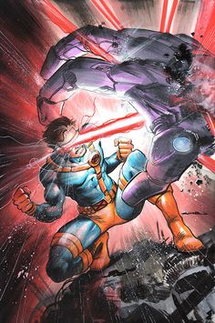 Cyclops, Leader of the X-Men - by Yildiray Cinar Hq Marvel, Marvel Comic Universe, Marvel Comics Art, Marvel Comic Books, Comics Universe, Comic Book Characters, Comic Book Heroes, Marvel Heroes, Marvel Characters