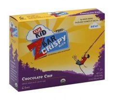 Clif Bar Kid Zbar - Organic Crispy Chocolate Chip - Case of 6 - 5.9 oz   ecolifestylekids.com