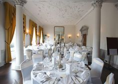 There are a wealth of beautiful rooms for pretty spectacular backdrops to your wedding ceremonies and reception, I have listed them from no 1 to 10 in no Unique Wedding Venues, Wedding Reception, Wedding Day, Ireland Wedding, Getting Married, Chandelier, Dining Table, Ceiling Lights, Weddings