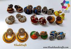 Silk Thread Jhumkas, Thread Jewellery, Ear Rings, Jewelry Party, Beaded Bracelets, Wedding, Felting, Valentines Day Weddings, Earrings