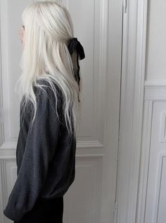 White hair is the cutest