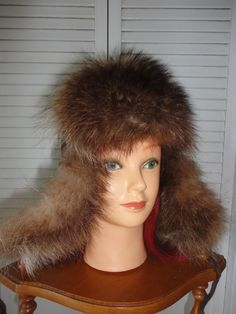 VERY NICE RACCOON FUR MEN OR WOMEN HAT FLIP FLAP   AVIATOR STYLE  fashion   clothing  shoes  accessories  mensaccessories  hats (ebay link) 8a6a936cff73