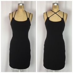 MODA International Sexy Multi-Strap Black Body-con Tank Dress. Small  | eBay