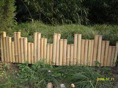 "Bamboo Border Edging Natural 1""H x 4'W"