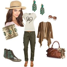 instead of jeans, created by mizar on Polyvore