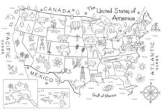 Map of the United States Embroidery Pattern by Theflossbox on Etsy