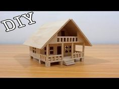 Popsicle Stick Miniature House - japan style (custom made) - YouTube