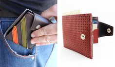 Couch Recycled Car Upholstery Wallets