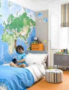 map in the bedroom
