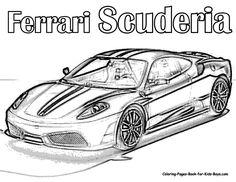 auto coloring   scuderia ferrari car colouring pages supercar rally