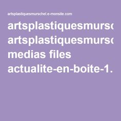artsplastiquesmurschel.e-monsite.com medias files actualite-en-boite-1.pdf