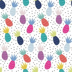 Party Pineapple Fabric Tropical Summer By Demigoutte Kids