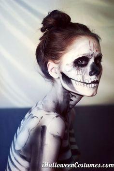 skeleton+makeup+for+Halloween+-+Halloween+Costumes+2013