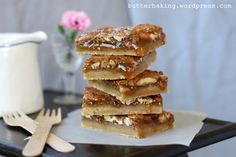 maple pecan pie bars by butter