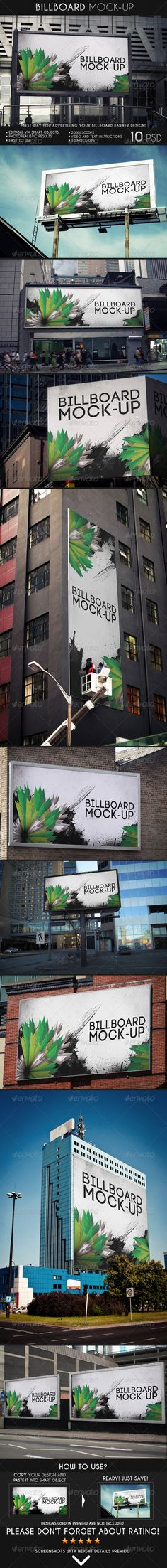 Billboard Mock-up ad advertising banner mock-up billboard business city ad company corporate display editable logo mock-up mockup outdoor photograph photorealistic professional sky Billboard Mockup, Billboard Design, Roll Up Design, Mockup Photoshop, Web Design, Graphic Design, Business Flyer Templates, Business Card Logo, Signage
