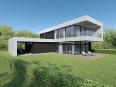 Individual modern Architectural design and concepts. Modern Architecture House, Architecture Design, Good House, Lithuania, House Plans, House Ideas, Villa, Exterior, Mansions