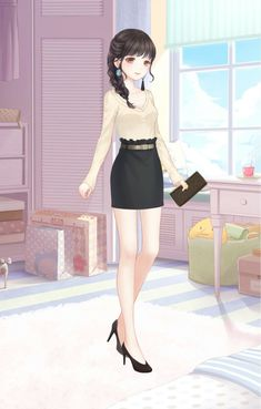 Tenu élégante Cartoon Outfits, Anime Outfits, Pretty Outfits, Cute Outfits, Nikki Love, Fashion Art, Fashion Outfits, Cute Art Styles, Cute Anime Character