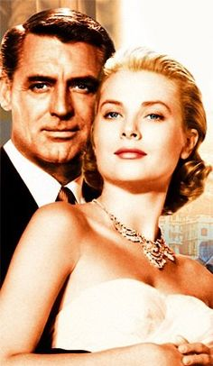 TO CATCH A THIEF: 1955 Carey Grant and Grace Kelly