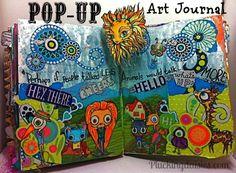 Art Journal Pop-up Book | Pluckingdaisies.com #RangerInk #Tutorial