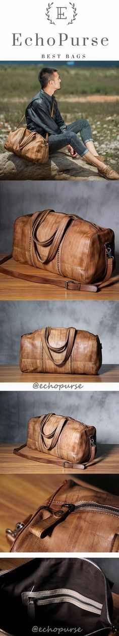 f22df33bf7 Original Handmade Leather Duffel Bag
