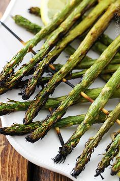 This super quick and easy recipe for grilled lemon asparagus will knock your socks off!