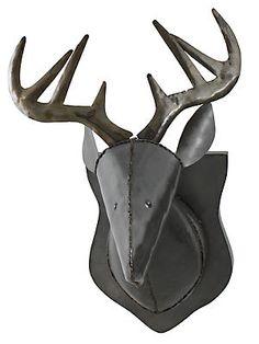 Metal Welded Deer Head Sculpture