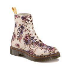 Womens Dr. Martens Flower Boot, Beige