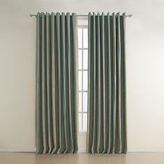 (Two Panels) Stripe Polyester Jacquard Energy Saving Curtain  – AUD $ 195.19  curtais