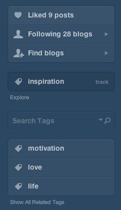 Tumblr - Following, Searching, Tracking, Discovering